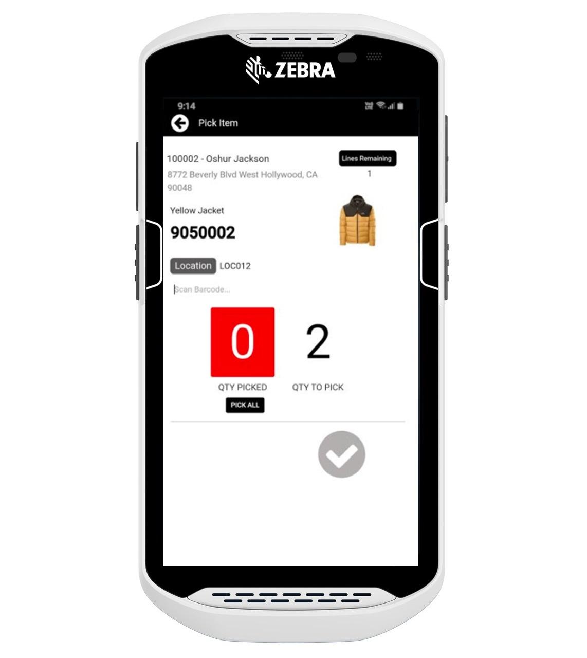 mobile order picking